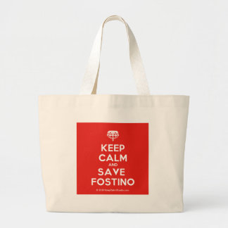 Keep Calm and Save Fostino Large Tote Bag