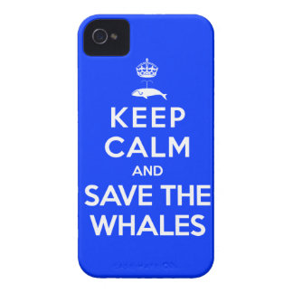 Keep Calm and Save the Whales iPhone 4 Case