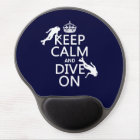 Keep Calm and (scuba) Dive On (in any colour) Gel Mouse Pad