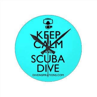Keep Calm and Scuba Dive Wallclock