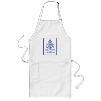 KEEP CALM AND SEARCH TEMPLE LONG APRON