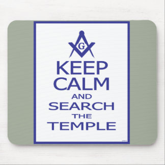 KEEP CALM AND SEARCH TEMPLE MOUSE PAD