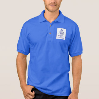 KEEP CALM AND SEARCH TEMPLE POLO SHIRT