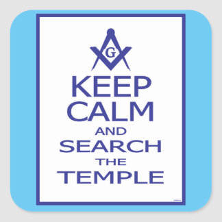 KEEP CALM AND SEARCH TEMPLE SQUARE STICKER