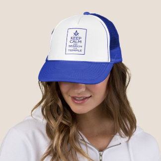KEEP CALM AND SEARCH TEMPLE TRUCKER HAT