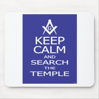 KEEP CALM AND SEARCH THE TEMPLE MOUSEPAD