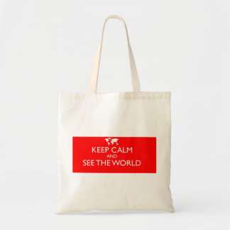 Keep Calm and See the World Tote Bag