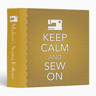 Keep Calm and Sew On Binder