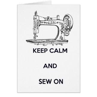 Keep Calm and Sew On, Birthday Card