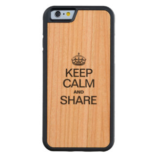 KEEP CALM AND SHARE CARVED® CHERRY iPhone 6 BUMPER