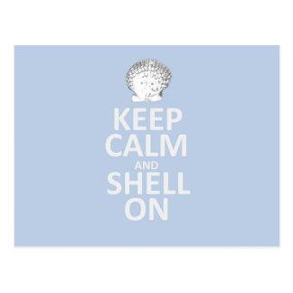 Keep Calm and Shell On. Postcard