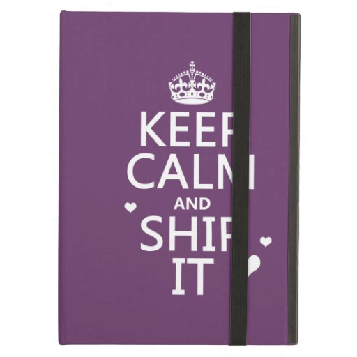 Keep Calm and Ship It (hearts) (in any color) iPad Cover