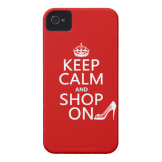 Keep Calm and Shop On - all colors Case-Mate iPhone 4 Cases