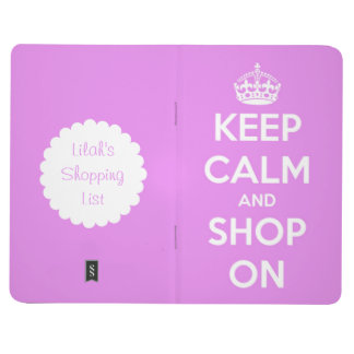 Keep Calm and Shop On Pink Personalized Journal
