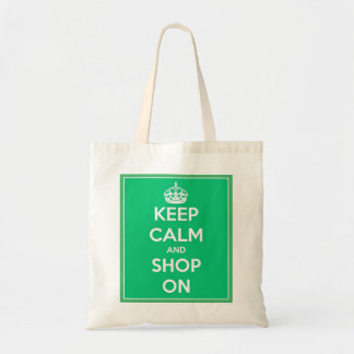 Keep Calm and Shop On Tote Bag