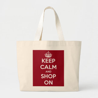 Keep Calm and Shop On Tote Bags