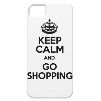 Keep calm and  shopping funny mall money spend spe iPhone 5 case