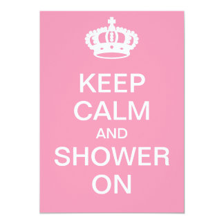 Keep Calm and Shower On Card