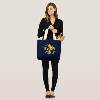 Keep Calm and Sing On Canvas Tote
