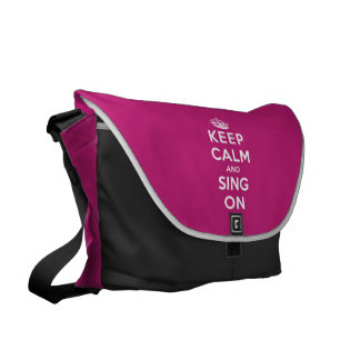 Keep Calm and Sing On Courier Bags