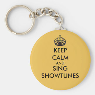 Keep Calm and Sing Showtunes Basic Round Button Keychain