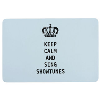 Keep Calm and Sing Showtunes Floor Mat