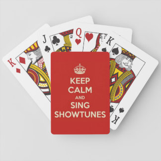 Keep Calm and Sing Showtunes Playing Cards