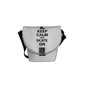 Keep calm and Skate on Messenger Bags
