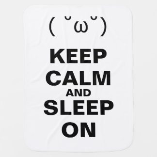 KEEP CALM AND SLEEP ON BABY BLANKET