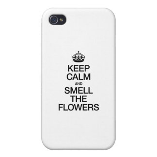 KEEP CALM AND SMELL THE FLOWERS iPhone 4/4S CASE