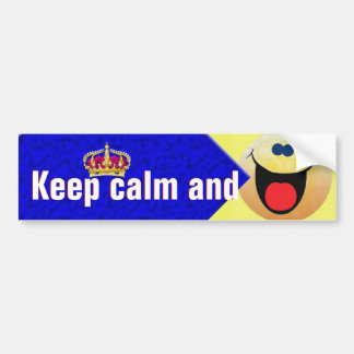 Keep calm and smile bumper sticker