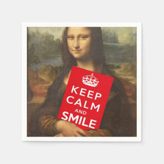 Keep Calm And Smile Paper Napkin