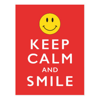 KEEP CALM AND SMILE POSTCARD