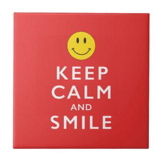 KEEP CALM AND SMILE TILE