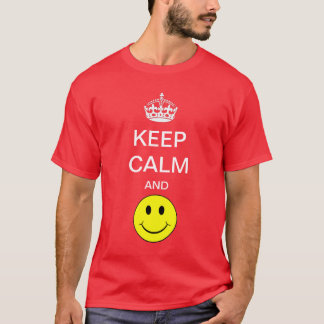 Keep Calm and smile Yellow Smiley Shirt