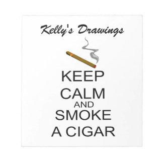 Keep Calm And Smoke A Cigar Notepad