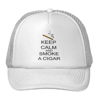 Keep Calm And Smoke A Cigar Trucker Hat