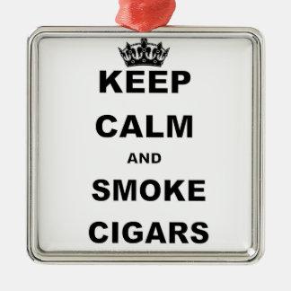 KEEP CALM AND SMOKE CIGARS.png Metal Ornament