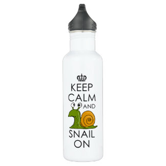 Keep Calm and Snail On 710 Ml Water Bottle