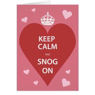 Keep Calm and Snog On Card
