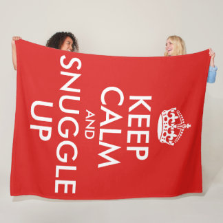 Keep Calm And Snuggle Up (large) Fleece Blanket