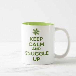 Keep Calm And Snuggle Up Mug (Green)
