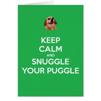 Keep Calm and Snuggle Your Puggle: Christmas Card! Card