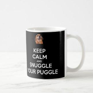 Keep Calm and Snuggle Your Puggle MUG - Black