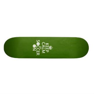 Keep Calm and Soccer On Custom Skateboard