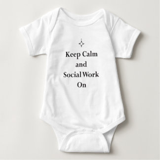 KEEP Calm and Social Work On Baby Bodysuit
