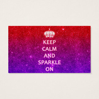 Keep Calm and Sparkle On Business Card
