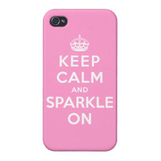 Keep Calm and Sparkle On Case For iPhone 4