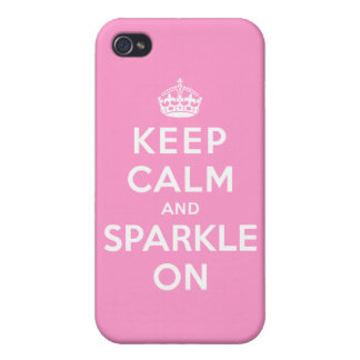 Keep Calm and Sparkle On iPhone 4 Cases
