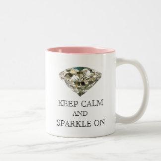 """KEEP CALM AND SPARKLE ON"" Mugs"
